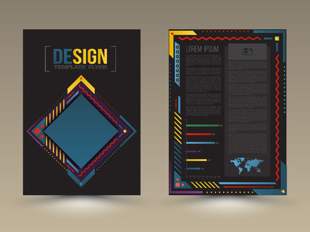 Vector brochure, flyer, magazine cover and poster template. Vector illustration. Ilustracja