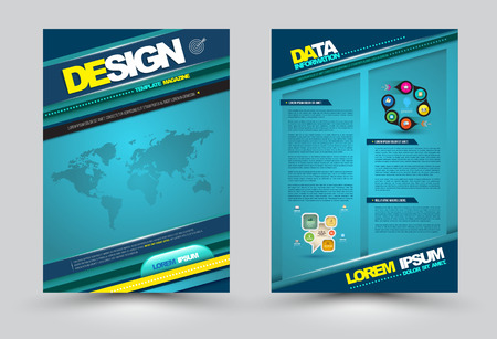 Vector design page template modern style. Vector illustration. Can use for business data report, presentation, web page, printing, brochure, leaflet, flyer, poster and advertising.