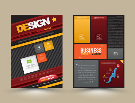 printing business: Vector design page template modern style. Vector illustration. Can use for business data report, presentation, web page, printing, brochure, leaflet, flyer, poster and advertising.