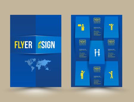 Modello di brochure disegno vettoriale, il layout volantino, copertine di riviste e poster modello. Illustrazione vettoriale. Può usare per la stampa e web. Archivio Fotografico - 37091352