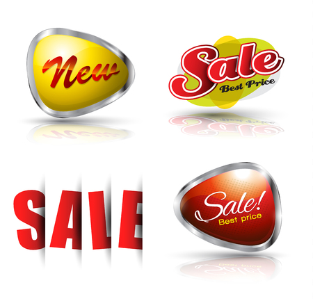 promotion: Sale and new banner set. Vector illustration. Can use for promotion.