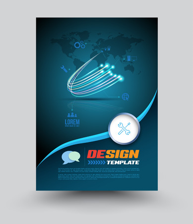 optic: Cover printing template. Vector illustration. Can use for network and finer optic concept.brochure, poster, leaflet