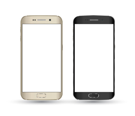 Perfectly detailed new smartphones isolation. Vector illustration. Imagens - 38888608