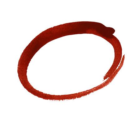 highlight: Red oval, highlight circle. Vector illustration.