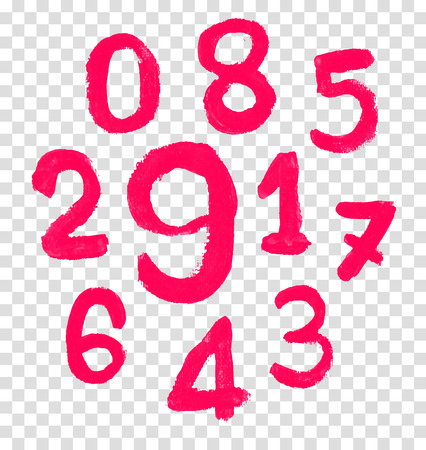 educaton: The number drawn by a crayon. Vector illustration.