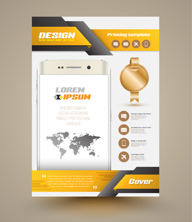 Modern Vector abstract brochure. Vector illustration. Book cover. flyer design template.