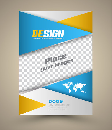 Modern Vector abstract brochure. Vector illustration. Book cover. flyer design template. Can use for printing.