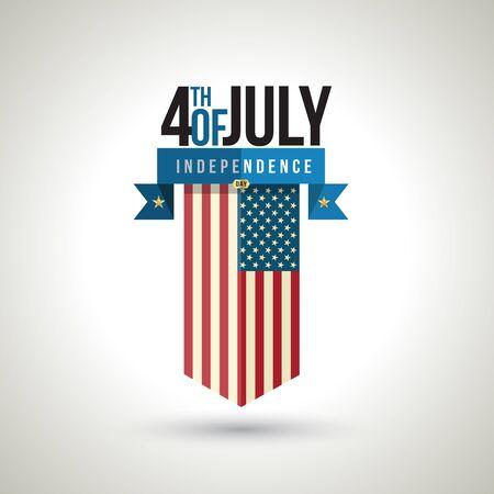 American independence day banner design. Vector illustration.