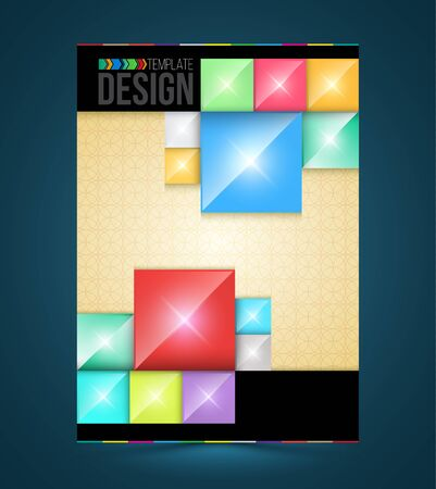 rectangle: Brochure cover design rectangles Templates. Abstract Flyer Modern Backgrounds. for publishing, print and presentation.