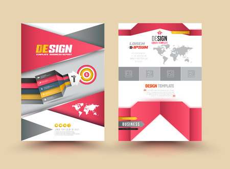 web survey: Template Cover with pieces of colored paper triangles. Use for book, brochure, flyer, poster, booklet, leaflet, cd cover design, postcard, business card, annual report. vector. abstract background