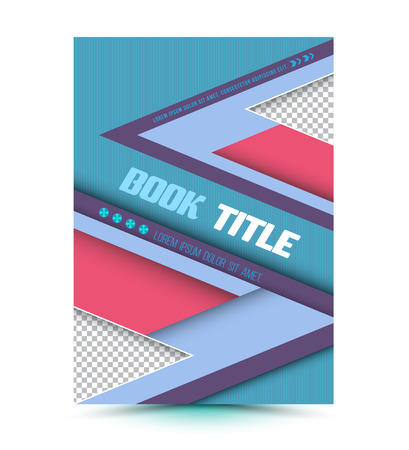 book cover design: Modern Vector abstract brochure. Vector illustration. Book cover. flyer design template, Magazine, presentation, brochure and printing. Illustration