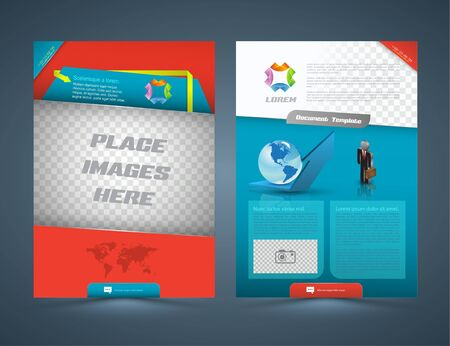 layout design template: Abstract business concept Brochure Flyer design Layout vector template in A4 size. Vector illustration.