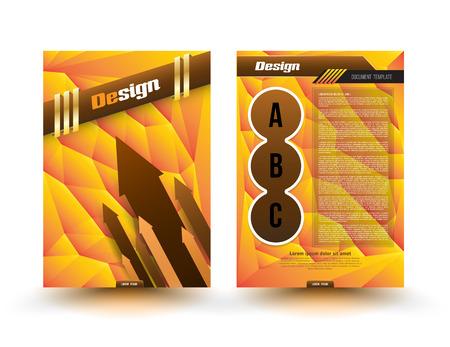 multiplicar: Modelo abstracto del vector colorido folleto folleto disposición de diseño de tamaño A4 Vectores