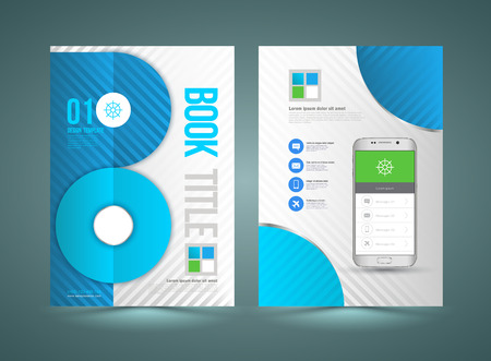 smartphone business: Business Brochure Template With Smartphone. Vector Background