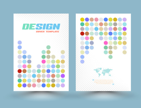 brochure cover: Vector flyer design templates with circle pastel color. Vector illustration. Abstract Round dot design vector template layout for magazine brochure flyer booklet cover annual report in A4.