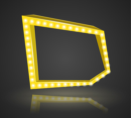 Pentagonal frame with space for text. Vector illustration.
