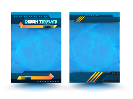 magazine page: Abstract design vector template layout for magazine brochure flyer booklet cover annual report in A4 size