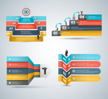 graphs and charts: Vector business concepts with icons set. Can use for infographic loop business report or plan modern template education template business brochure system diagram.