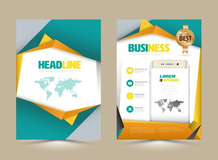 business flyer: Vector design page template modern style. Vector illustration. Can use for business data report, presentation, web page, brochure, leaflet, flyer, poster and advertising.