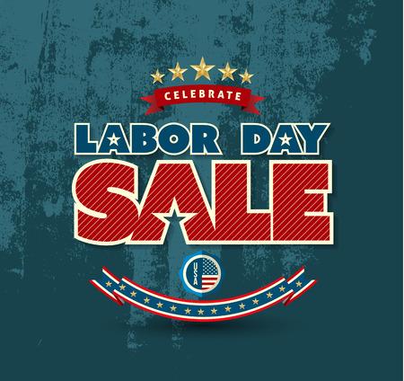 fin de semana: Día del Trabajo cartel de venta. Ilustración del vector. Puede utilizar para publicidad y promoción de bandera.