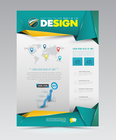 style template: Vector design page template modern style. Vector illustration.  Illustration