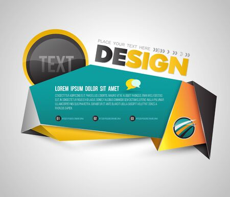 printing business: Modern banner origami 3D style. Vector illustration. Can use for promotion business presentation and advertising on printing and website.
