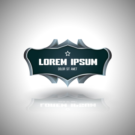 keywords backdrop: Vector banner 3d style. Vector illustration. Can use for promotion, advertising, frame.