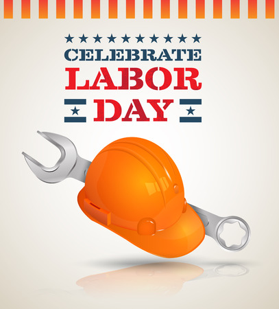 Celebrate Labor day poster. Vector illustration. Can use for promotion LAYBOR DAY SALE.