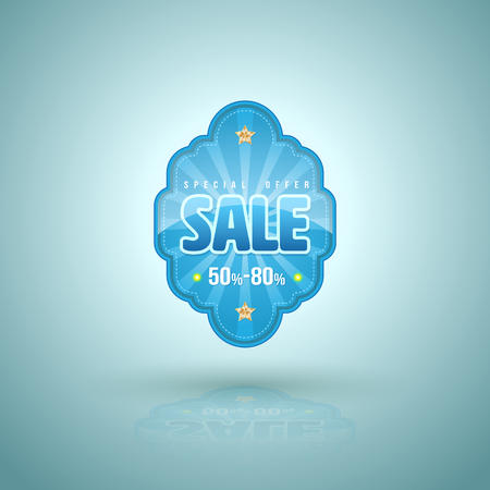 end of the year: Sale tag banner. Vector illustration. Can use for promotion poster. Illustration