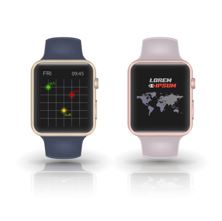 smartly: Smart watch isolated. Vector illustration. Illustration