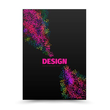 publication: Cover design layout template in A4 size. Vector illustration. Can use for cover book, magazine, brochure, leaflet, flyer and publication.