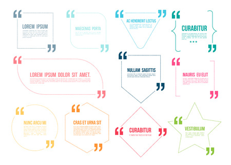quotation marks: Quote color template. Vector illustration.