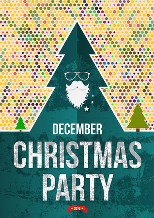 winter party: Christmas party poster.
