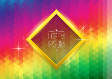 rectangle frame: Background abstract spectrum with rectangle frame. Vector illustration.