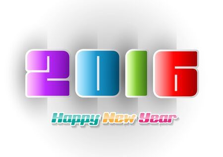 color of year: Happy New Year 2016 color on white background. Vector illustration