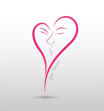 forever: Love forever concept. Use for wedding and valentines day. Illustration