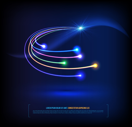 Les fibres optiques concept de communication