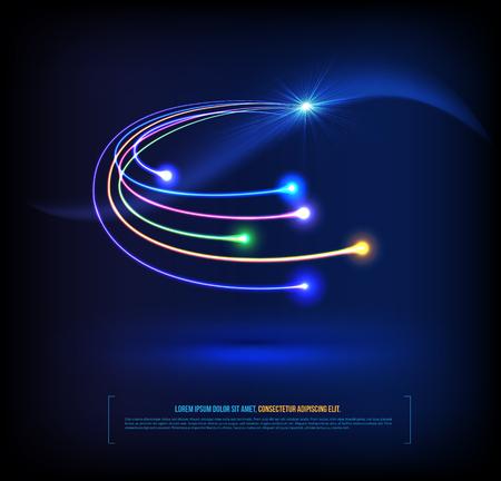Optische Fasern Kommunikationskonzept