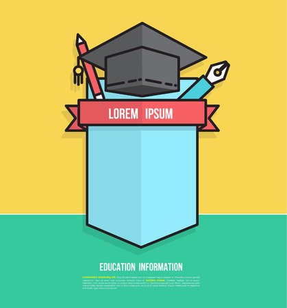 classes schedule: Education Badge Design for creating Study Plan, Schedule, Table, List, Timetable, Agenda, Chart or whatever data representation, Vector Illustration. Illustration