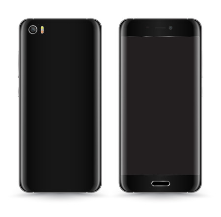 Smartphone Mockup Vector Front and Back.