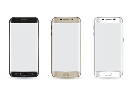 New realistic smartphone mockup. Vector illustration. Galaxy S7 Edges Style.
