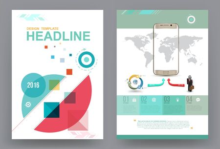 book design: Cover annual report Leaflet Brochure Flyer template A4 size design, book cover layout design, Abstract presentation templates, Business report template.