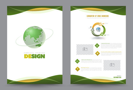 Cover annual report Leaflet Brochure Flyer template A4 size design, book cover layout design, Abstract presentation templates, Business report template. Imagens - 56632960