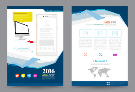 magazine template: Cover annual report Leaflet Brochure Flyer template A4 size design, book cover layout design, Abstract presentation templates, Business report template.
