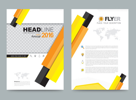 layout design template: Vector cover design template simply and elegant style, Can use for flyer, brochure, annual report, magazine, book, poster, printing press and web presentation. Vector illustration. Front and back layout A4 size. Illustration