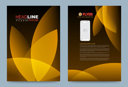 Vector cover design template simply and elegant style, Can use for flyer, brochure, annual report, magazine, book, poster, printing press and web presentation. Vector illustration. Front and back layout A4 size. Illustration