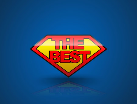 best product: The best badge tag banner shield style. Vector illustration. Can use for element the best seller and the best product.