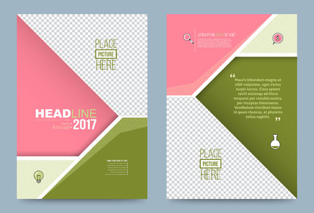 Vector cover design template simply and elegant style, Can use for flyer, brochure, annual report, magazine, book, poster, printing press and web presentation. Vector illustration. Front and back layout A4 size. Vector Illustration