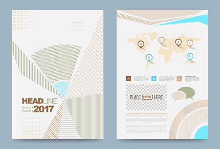 Vector cover design template simply and elegant style, Can use for flyer, brochure, annual report, magazine, book, poster, printing press and web presentation. Vector illustration. Front and back layout A4 size.