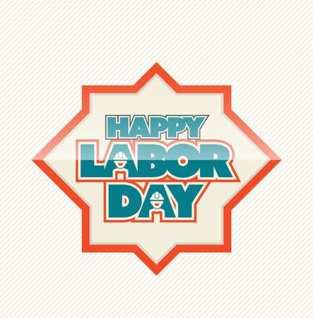 workers rights: Happy Labor day tag banner. Vector illustration.